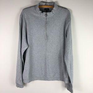 Burberry Golf Gray Quarter Zip Sweatshirt Pullover